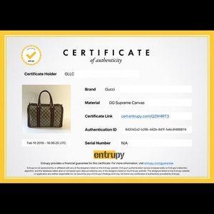 Handbags - Authenticity certificate For Gucci Boston Dbl Strp